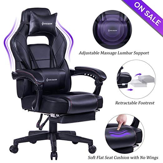 VON RACER Massage Reclining Office Chair