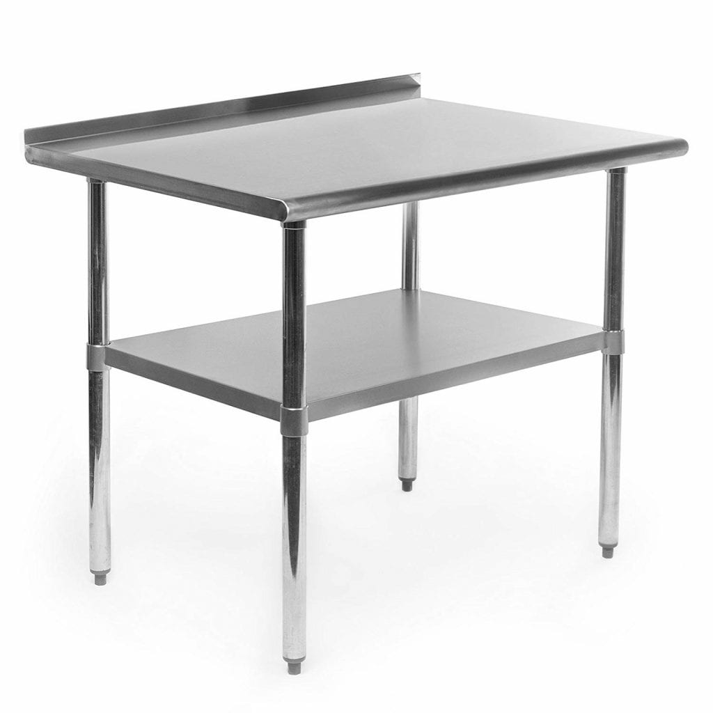 7. GRIDMANN NSF Stainless Steel Commercial Kitchen Table w-Backsplash