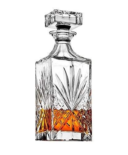 Crystal Decanter for Liquor, Whiskey, and Bourbon