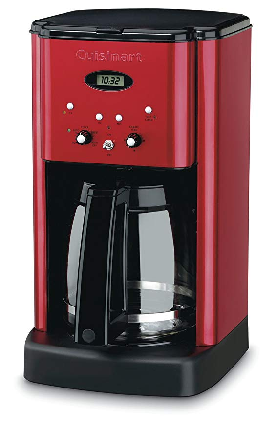 Cuisinart 12 Cup Brew Central Coffee Maker, Metallic Red