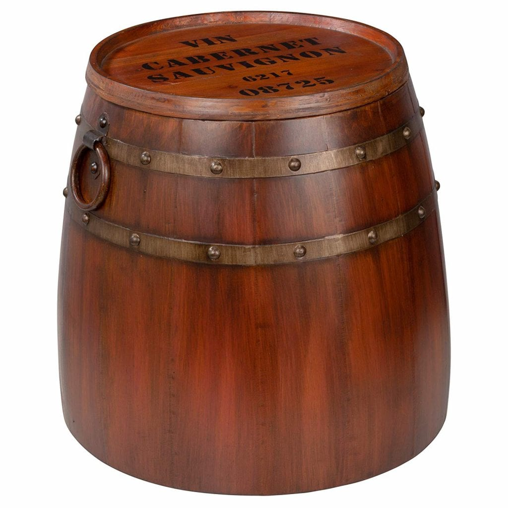Design Toscano Whiskey Barrel Table