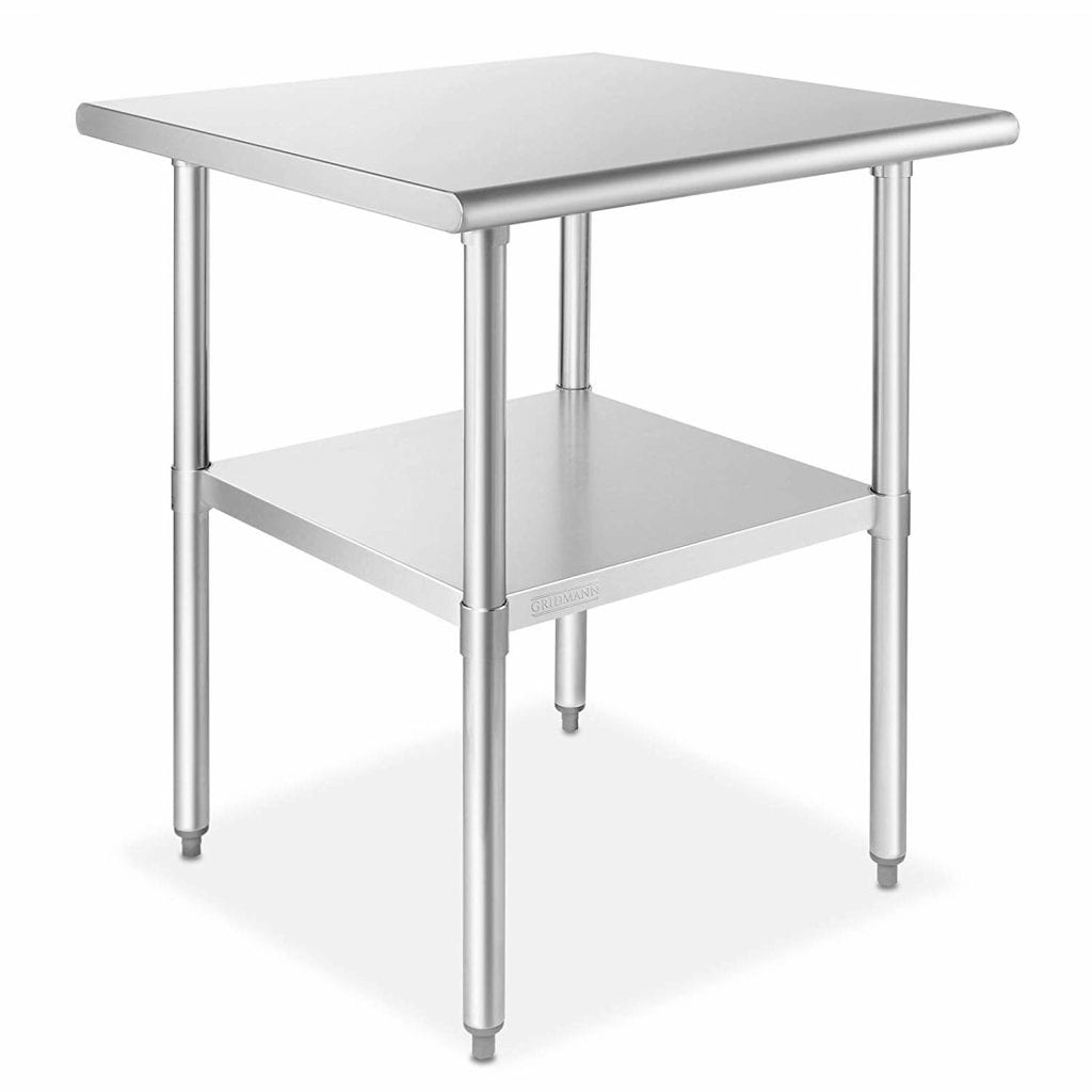 GRIDMANN 30x30 Stainless Steel Work Table