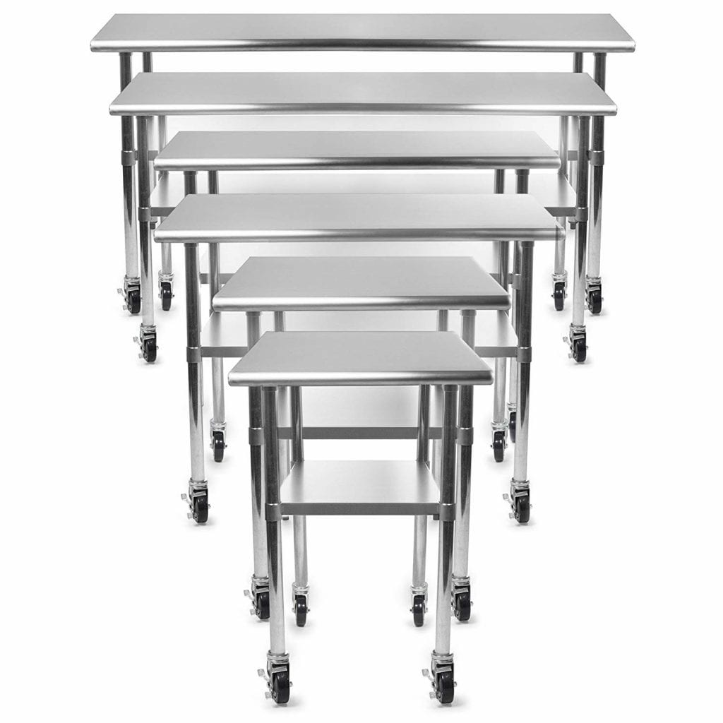 GRIDMANN NSF Stainless Steel Table 4 Casters (Wheels)