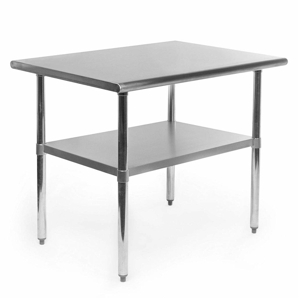 GRIDMANN NSF Stainless Steel Work Table - 36x24 in.