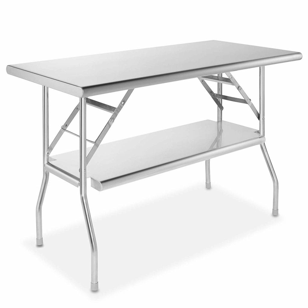 GRIDMANN Stainless Steel Folding Table