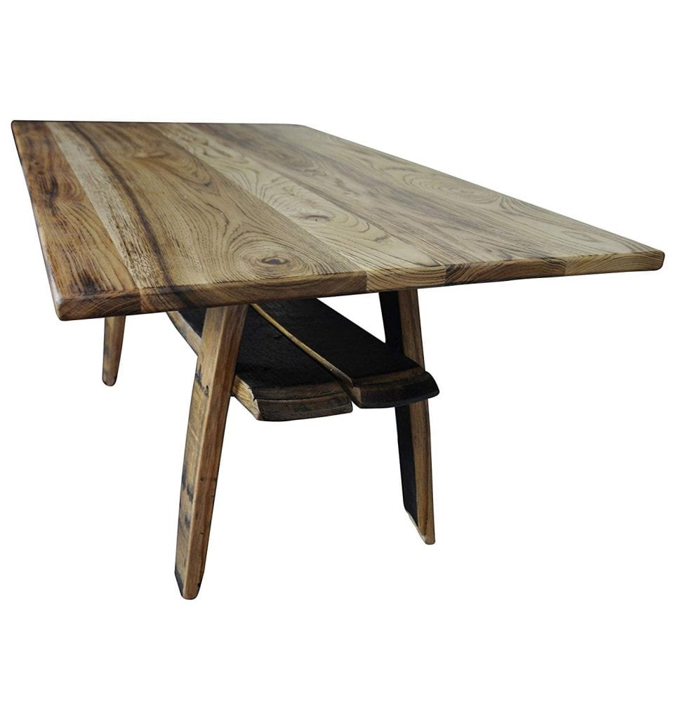 Hope Woodworking Rustic Barrel Coffee Table