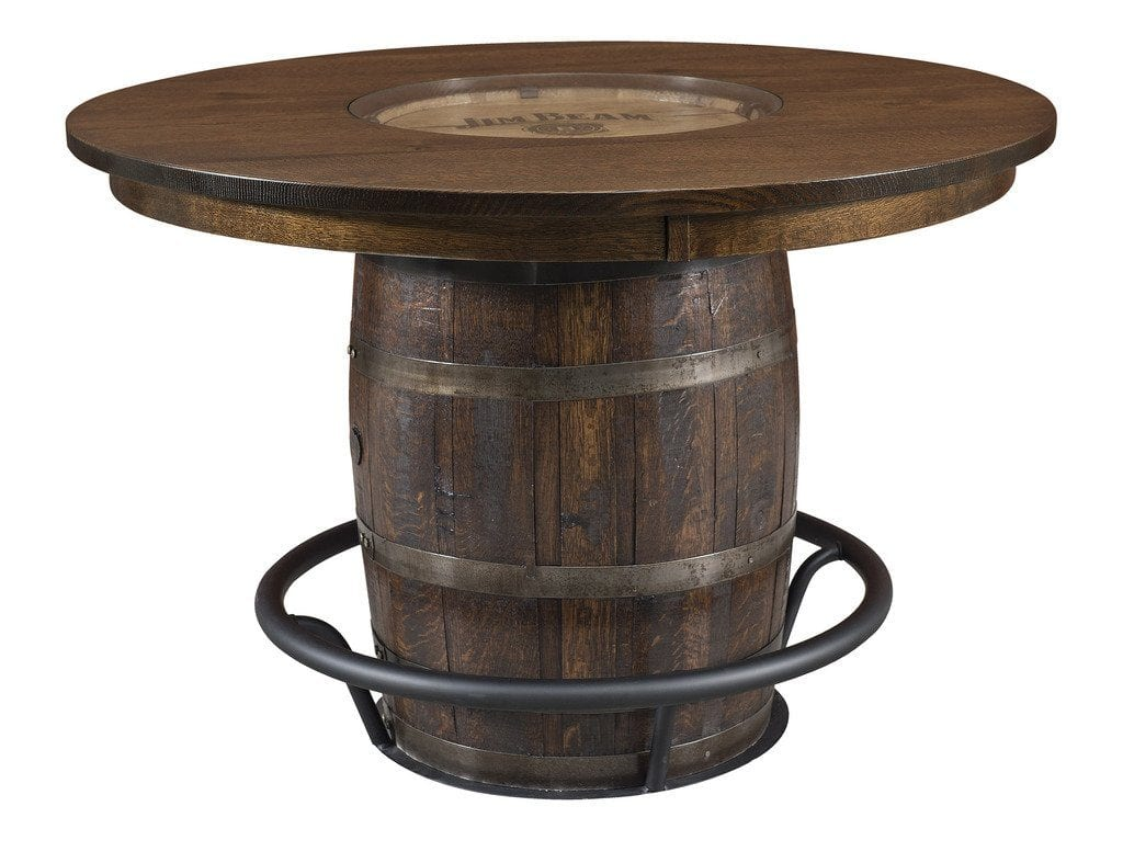 Jim Beam Whiskey Barrel Table