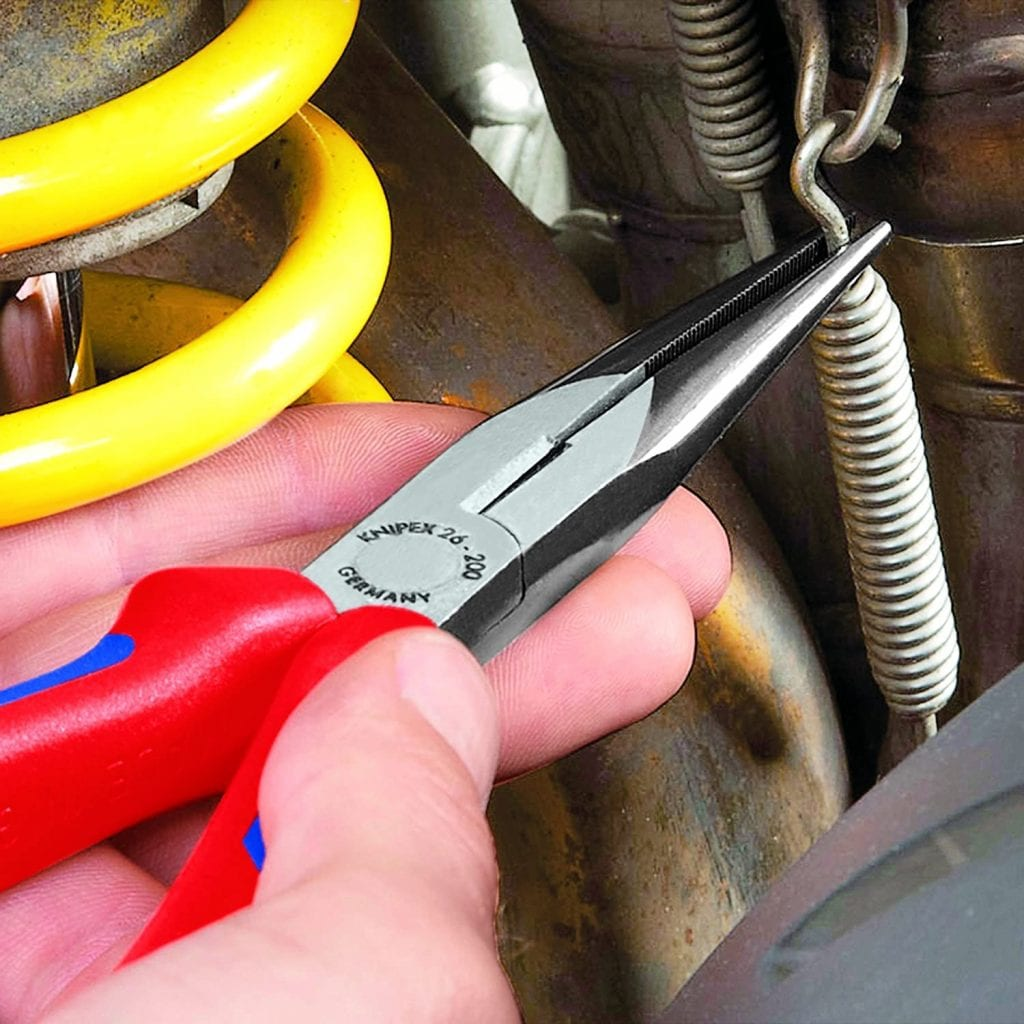 KNIPEX Tools Long Nose Pliers with Cutter