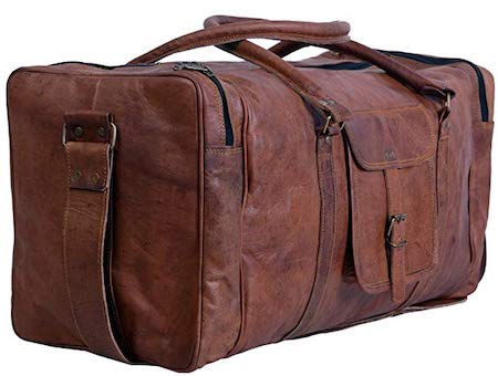 Komal's Passion Leather Square Duffel