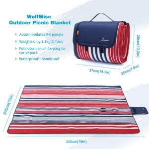 Wolfwise Beach Blanket Extra Large