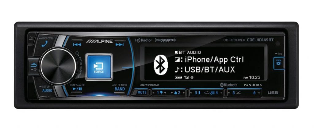 Alpine Single-Din Bluetooth Stereo