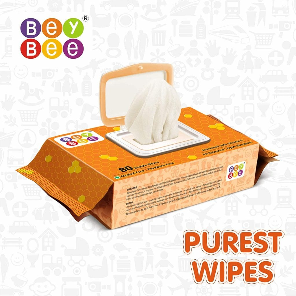 Bey Bee Water Base Baby Wipes