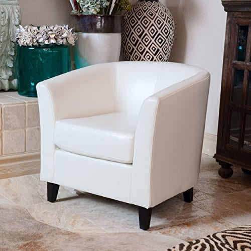 Christopher Knight Home 206537 Club Chair, White
