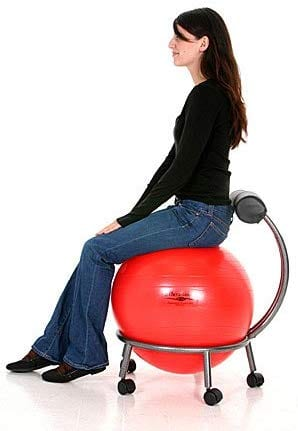 Brand Adjustable Fitness Ball Chair by Isokinetics Inc.