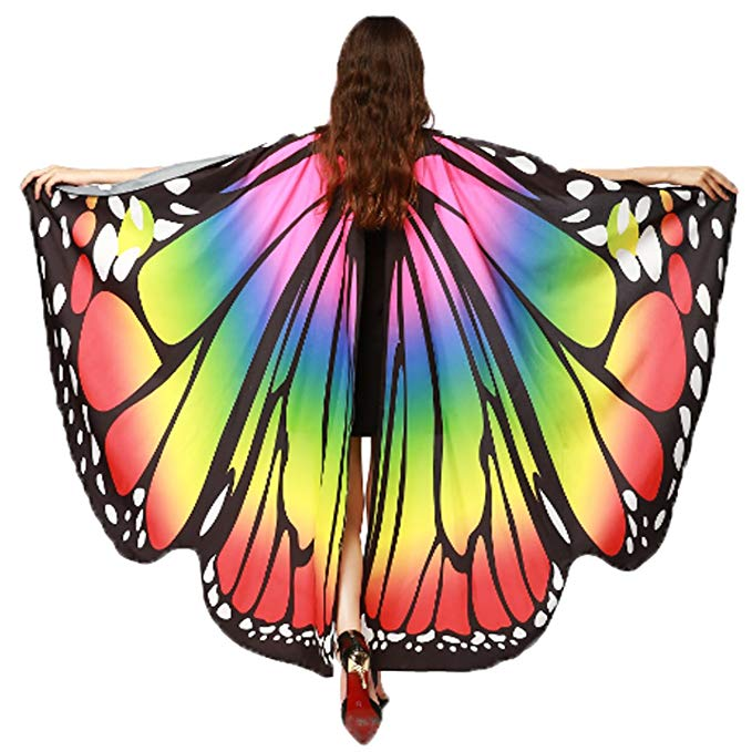 Christmas Party Soft Fabric Butterfly Wings Costume