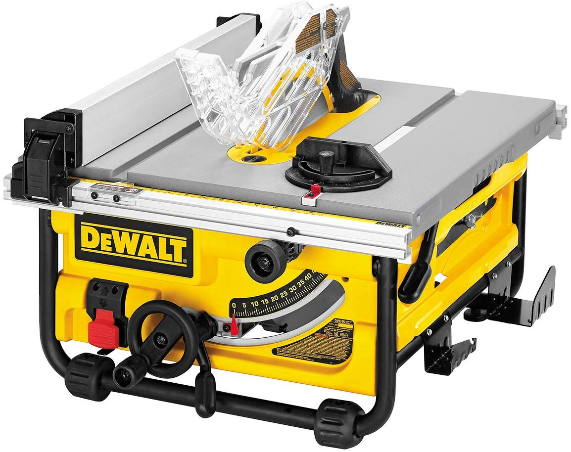 DEWALT Compact DW745S Table Saw Job Site with Fold Stand
