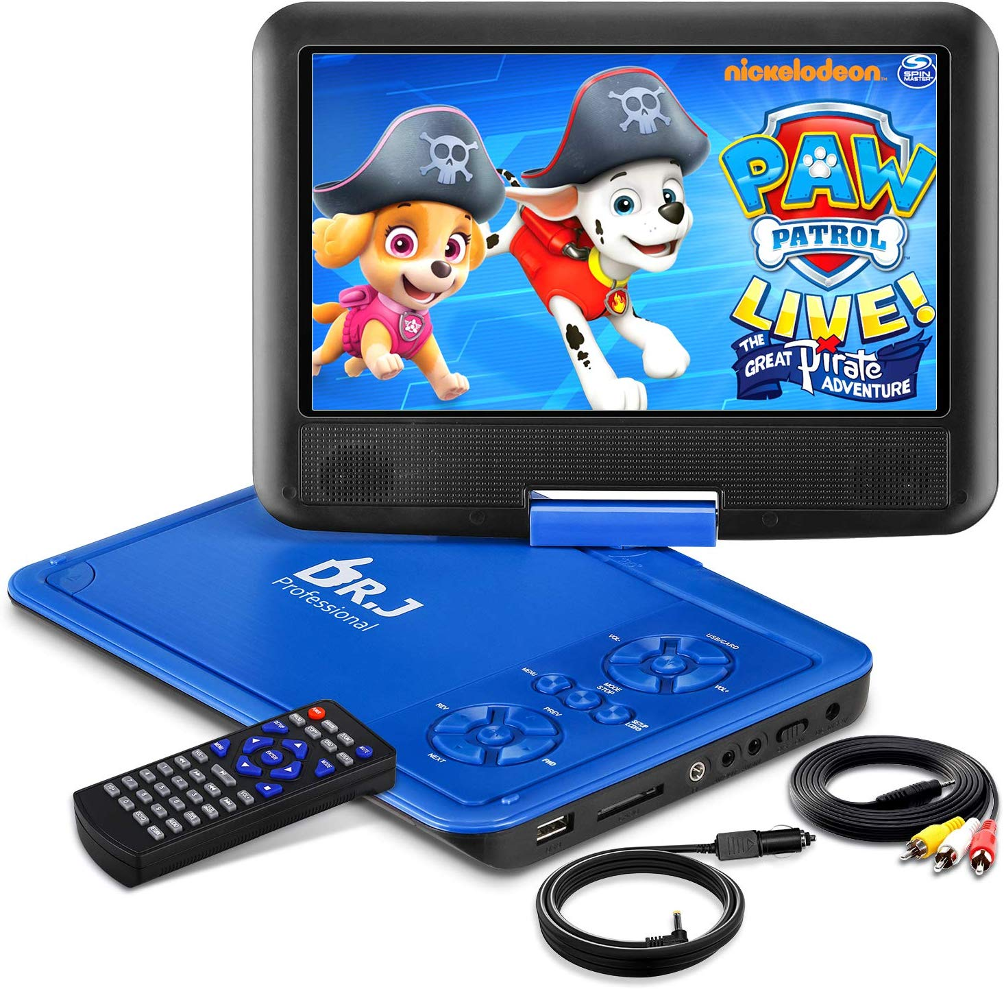 DR. J 11.5 Portable DVD Player with HD 9.5 Swivel Screen