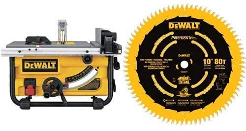 Dewalt Compact 10 Inch Cross Cutting Blade Table Saw