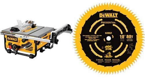 Dewalt Table Max Rip Compact Corded Job site Blade Saw