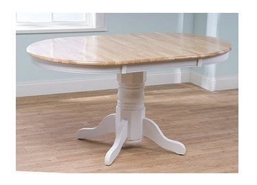 Expandable Oak Pedestal Round Dining Table by Simple Living Products