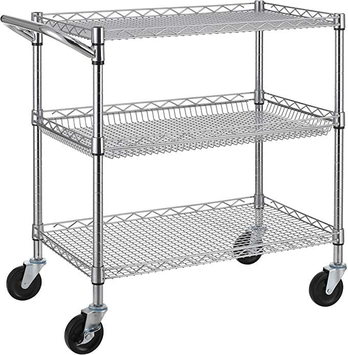 Finnhomy 3 Tier Heavy Duty Commercial Grade Utility Cart