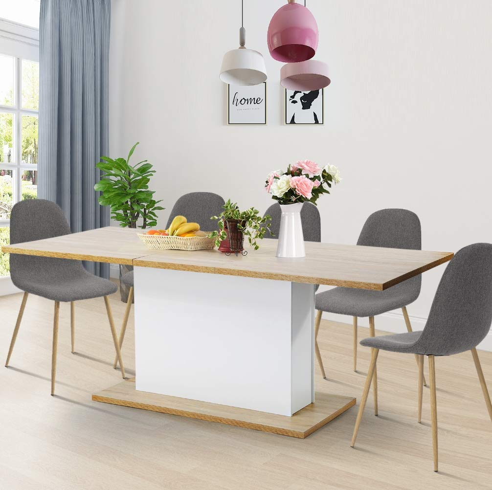 HOMY CASA Dining Table Extensible