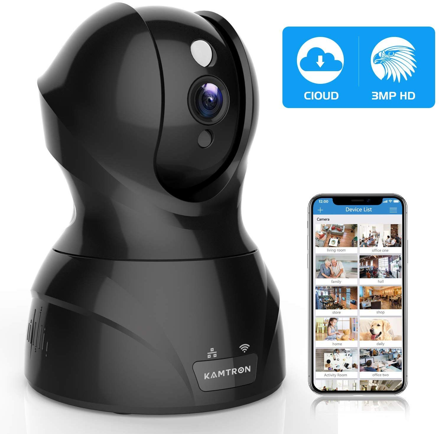 KAMTRON 1536P Indoor Security Camera