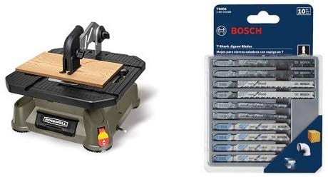 Rockwell Blade Tablesaw Portable Runner With Jigsaw Blade