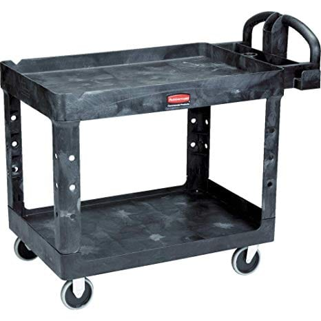 Rubbermaid Commercial Products 2-Shelf Utility Cart