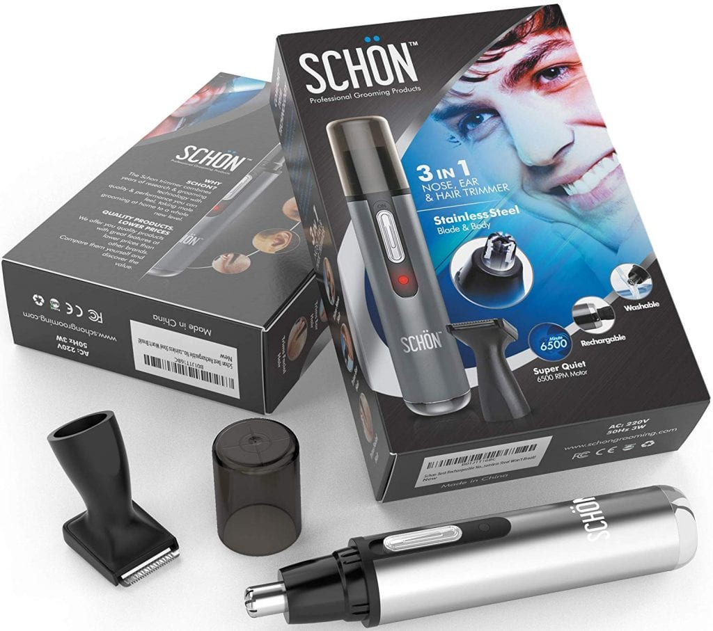 Schon Rechargeable Nose Hair Trimmer - Lifetime Warranty