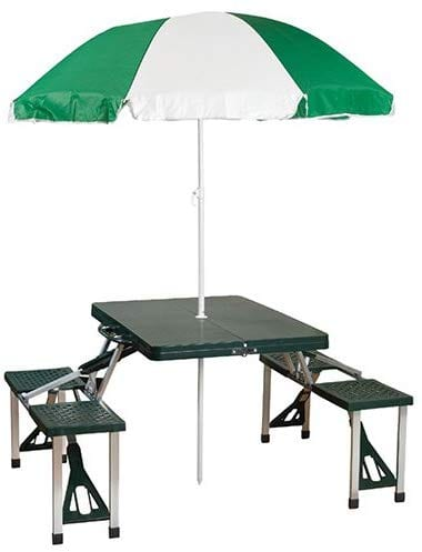 Stansport Picnic Table and Umbrella Combination