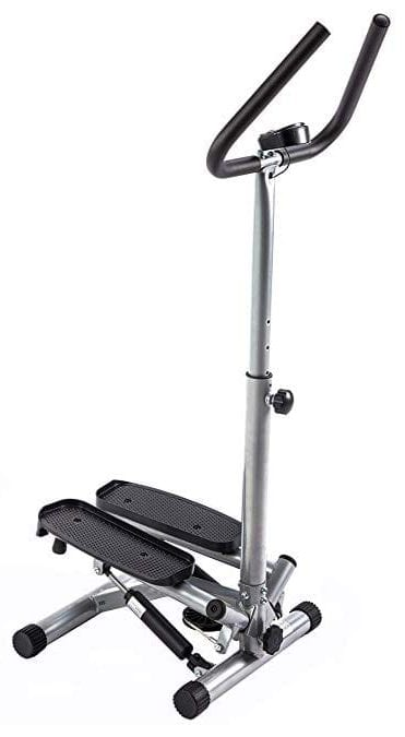 Sunny Health & Fitness Twist Stepper Step Machine w/Handle Bar and LCD Monitor NO 059