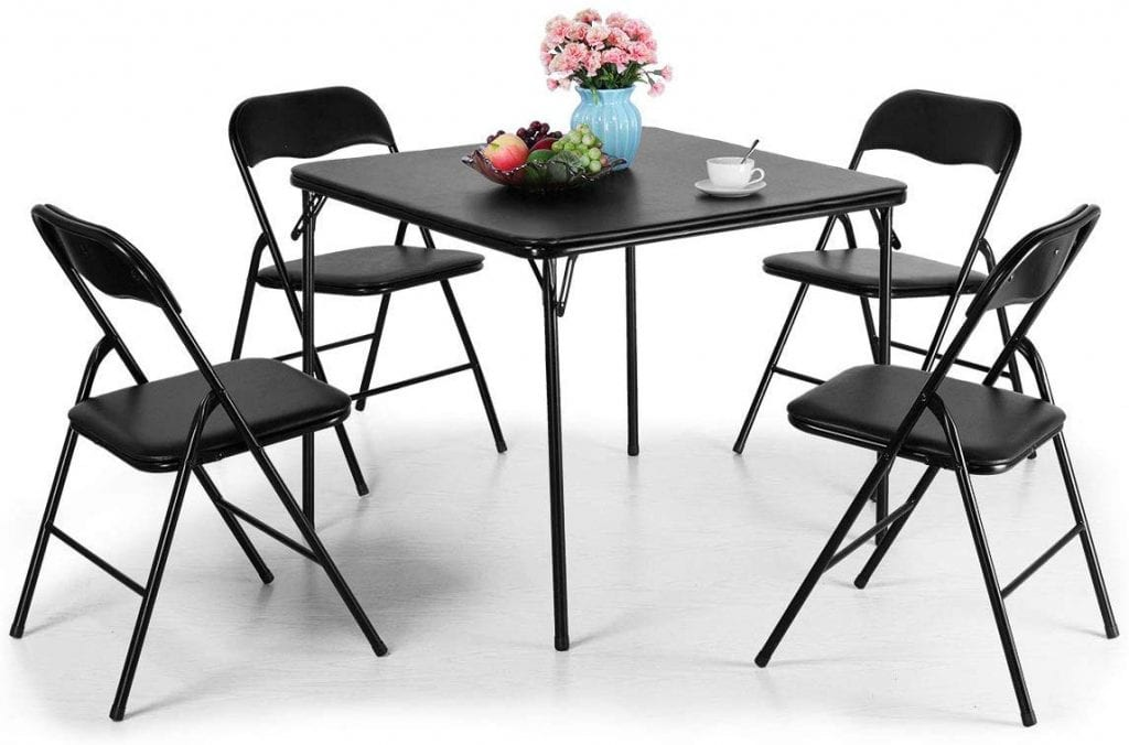 Tobbi 5-Piece Folding Table and Chairs Set