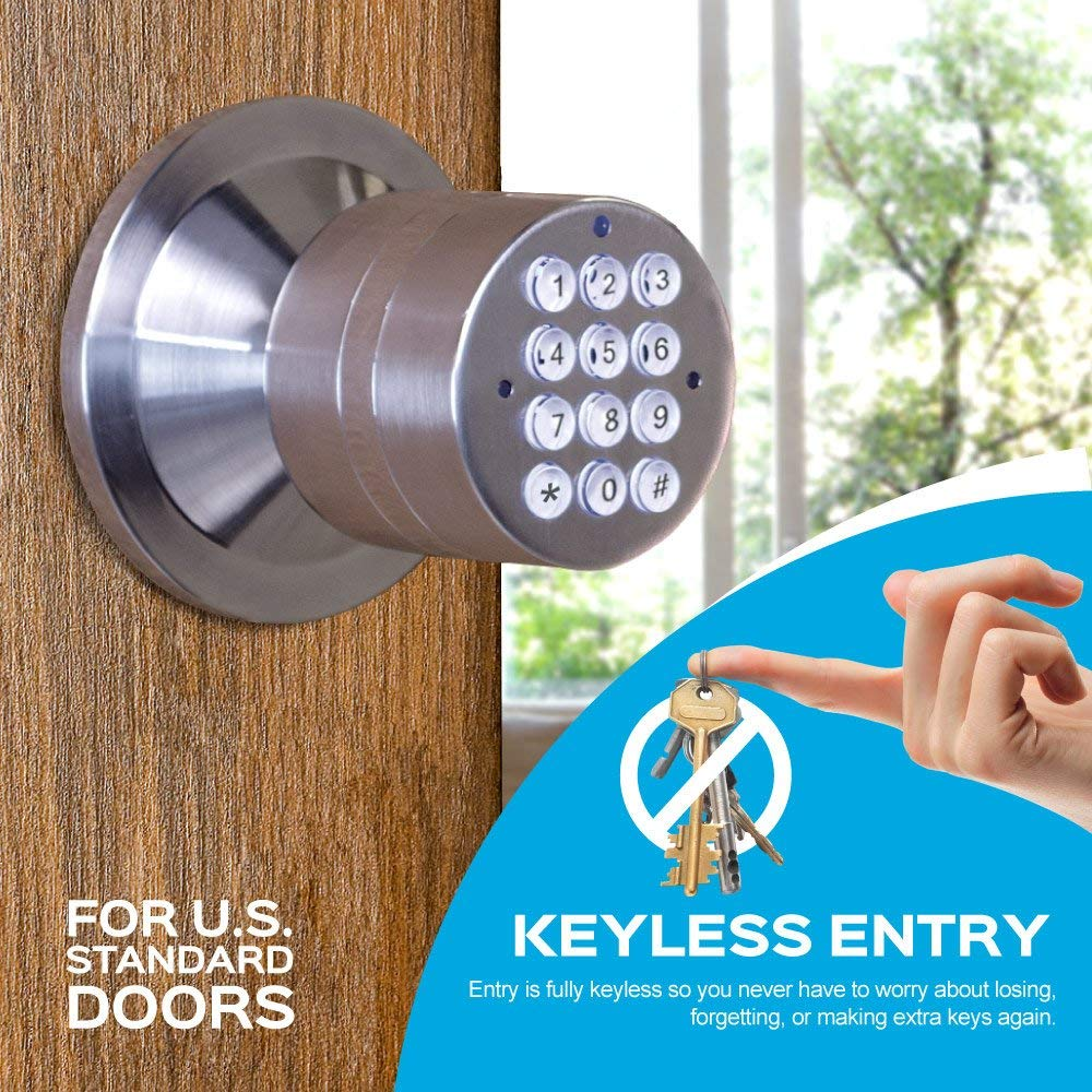 TurboLock Keyless Electronic Keypad Entry Door Lock