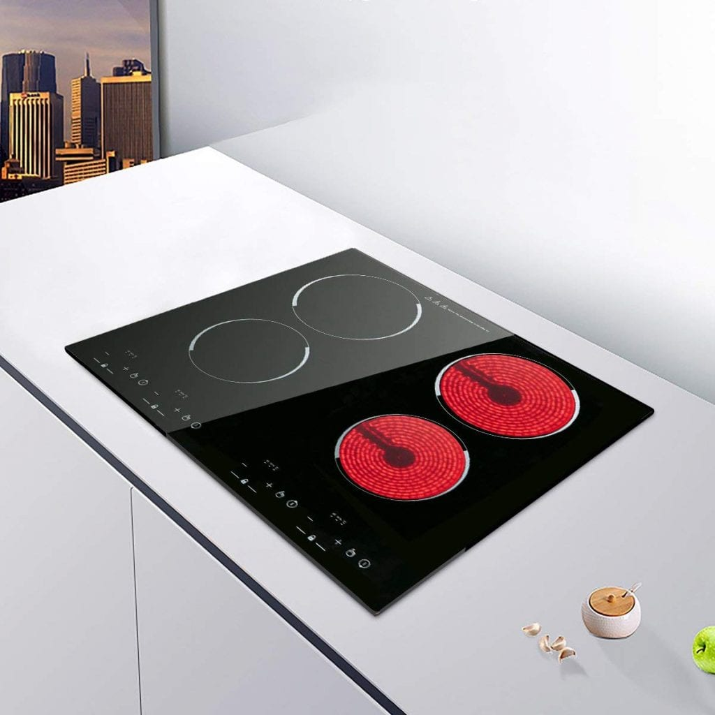 XGMY C43 Electric Cooktop with Four Cooking Elements for Any Cookware
