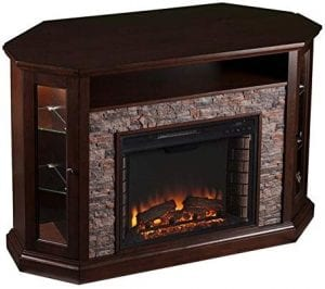 Pemberly Row Corner LED Fireplace TV Stand