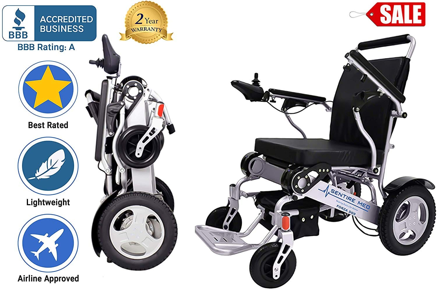 Sentire Med Foldable Wheelchair