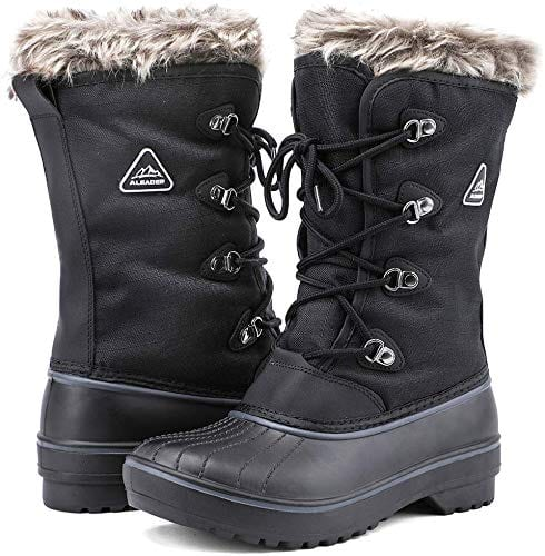 Women's Warm Faux Fur Lined Snow Boots by ALEADER