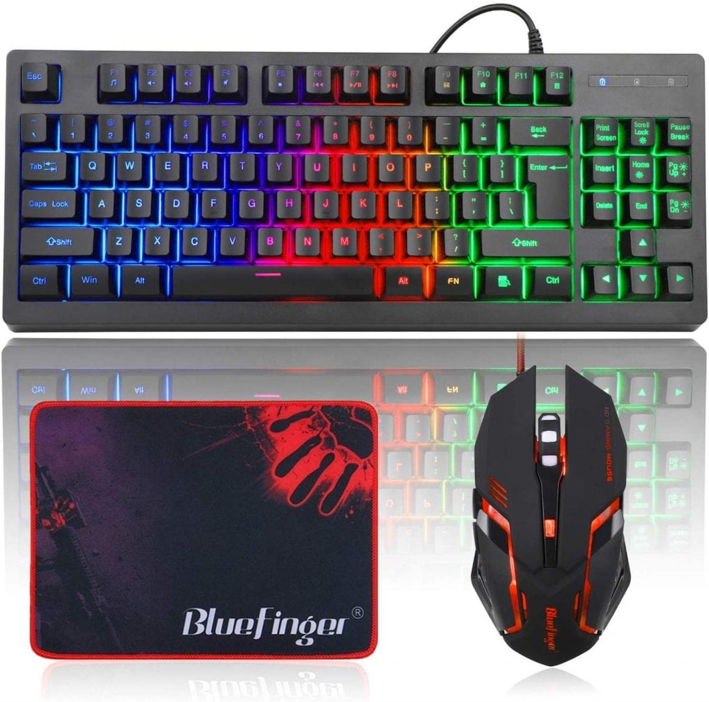 BlueFingerGaming Keyboard and Backlit Mouse Combo