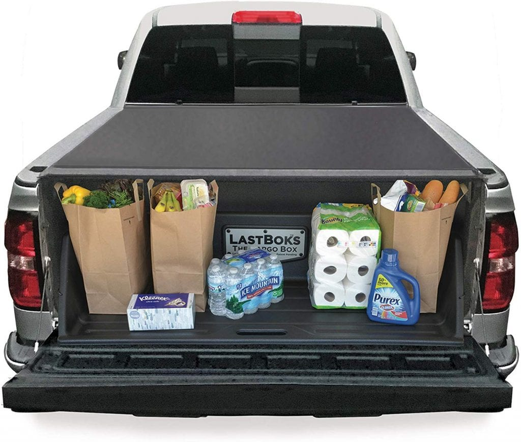 Last Boks Full-Size Truck Cargo Box, a Truck Bed Organizer for Carrying and securing Your Groceries, Sports Equipment, Tools, and Much More. LastBoks Truck Accessory Protects Cargo and Your Vehicle