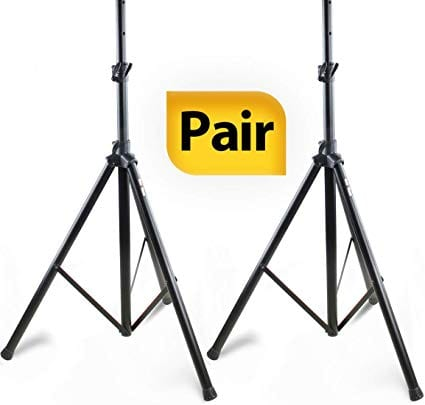 PAIR of PA Speaker Stands by Hola! Music, HPS-200PA, Adjustable Tripod Height 4ft to 6ft