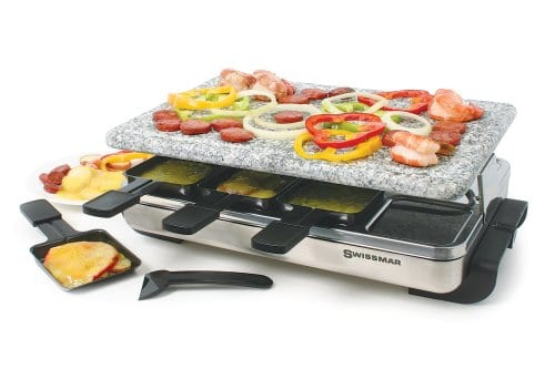 Swissmar KF-77081 Stelvio 8-Person Raclette with Granite Stone Grill Top