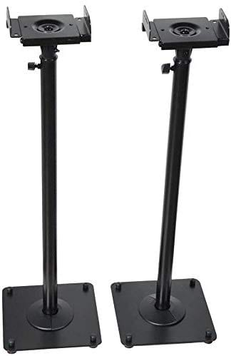 "VideoSecu 2 Heavy Duty PA DJ Club Adjustable Height Satellite Speaker Stand Mount - Extends 26.5"" to 47"" (i.e., Bose, Harmon Kardon, Polk, JBL, KEF, Klipsch, Sony, Yamaha, Pioneer, and Others) 1B7"