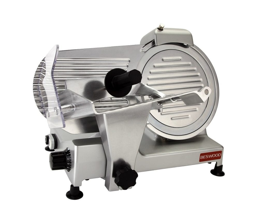 Beswood 10 inch Premium Chromium Plated Electric Deli Meat Slicer