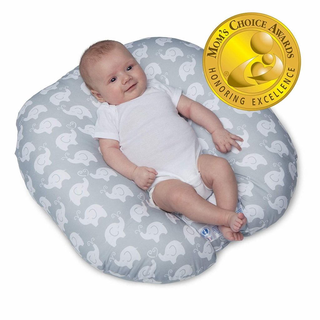 Boppy Lounger, Elephant Love Gray