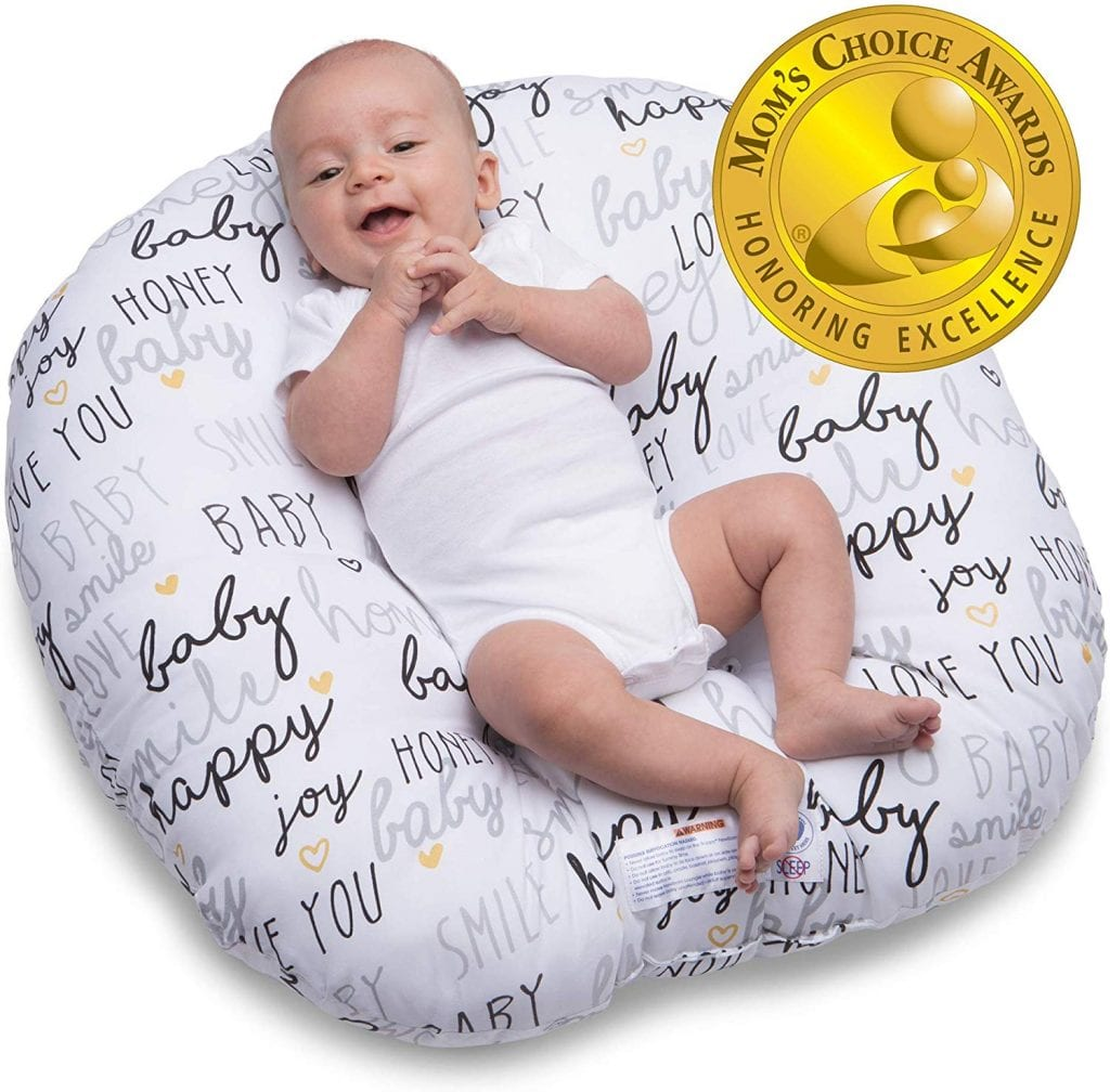 Boppy Lounger, Hello Baby Black and Gold