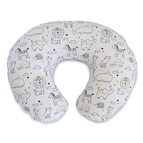 Boppy Nursing Pillow, Black, and Gold