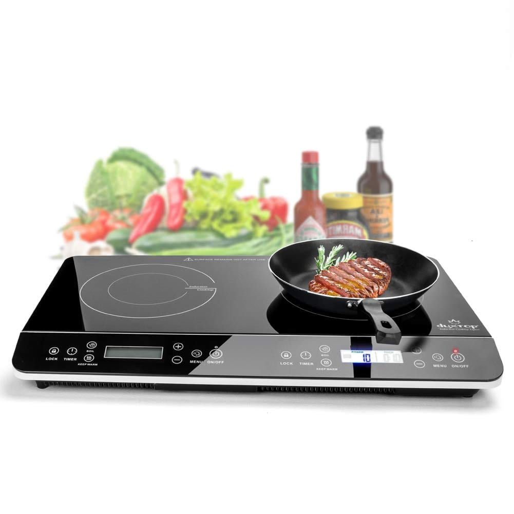 Duxtop 9620LS LCD Double Induction Cooktop - Sensor Touch Stove