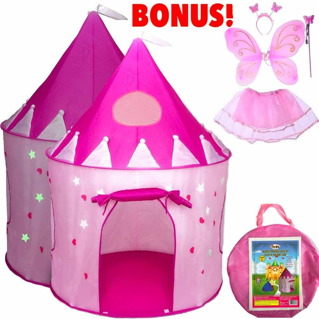 Playz 5-Piece Princess Castle Pop-Up Tent