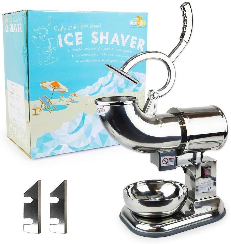 WYZworks Stainless Steel Ice Shaver - 440lb/h